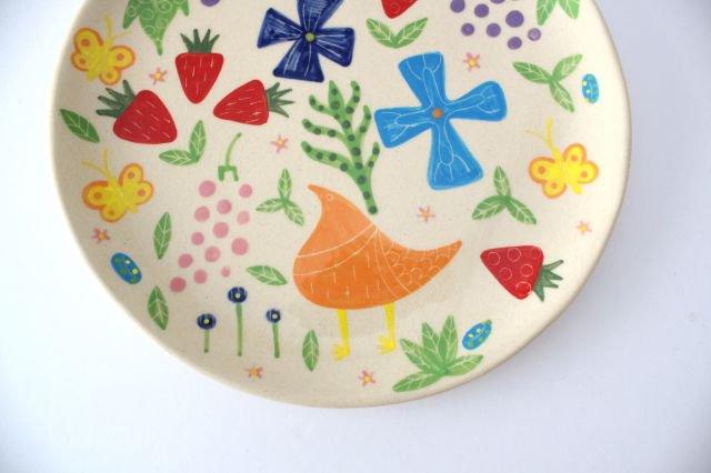 【一点もの】色絵付け大皿 【F】 陶器 工房双子堂 やちむん 画像5