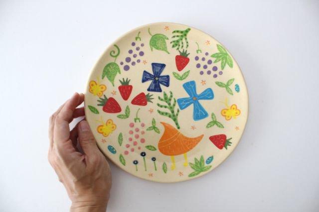 【一点もの】色絵付け大皿 【F】 陶器 工房双子堂 やちむん 画像6