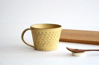 印花マグカップ 黄 陶器 武曽健一商品画像