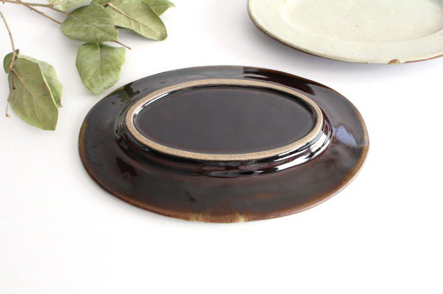 オーバル皿 大 陶器 笠原良子 画像5