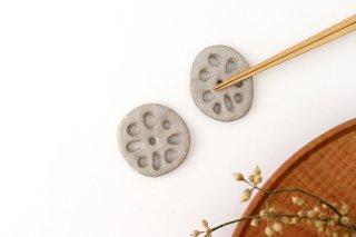 ハスはしおき 白 陶器 平沢佳子商品画像