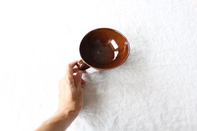 スープカップ クロス 飴 陶器 平沢佳子 画像3