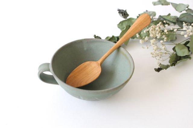 スープカップ クロス 薄荷 陶器 平沢佳子 画像3