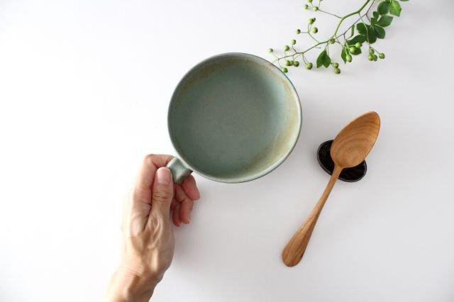 スープカップ クロス 薄荷 陶器 平沢佳子 画像4