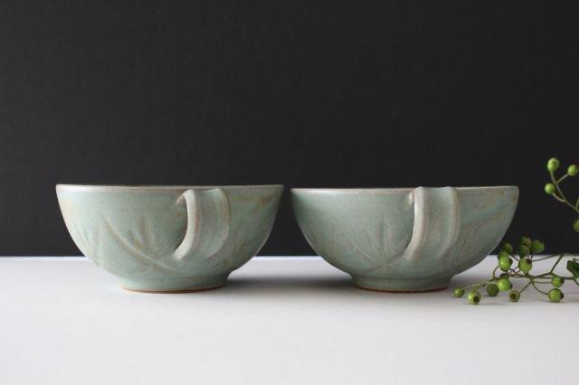 スープカップ クロス 薄荷 陶器 平沢佳子 画像6