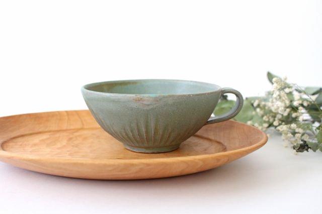 スープカップ ストレート 薄荷 陶器 平沢佳子