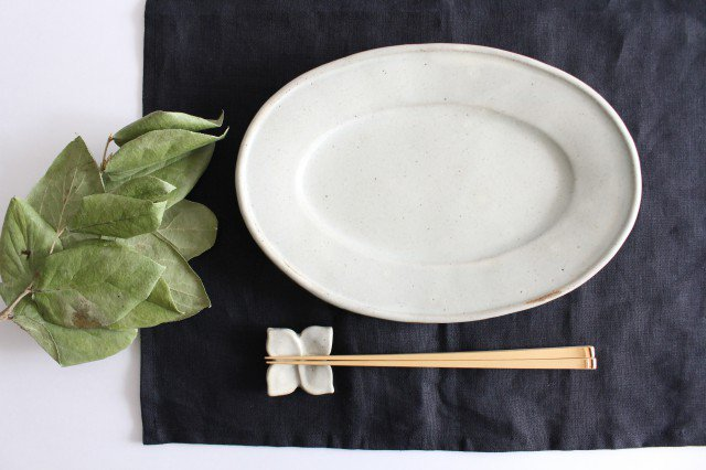 オーバル皿 中 陶器 笠原良子 画像2