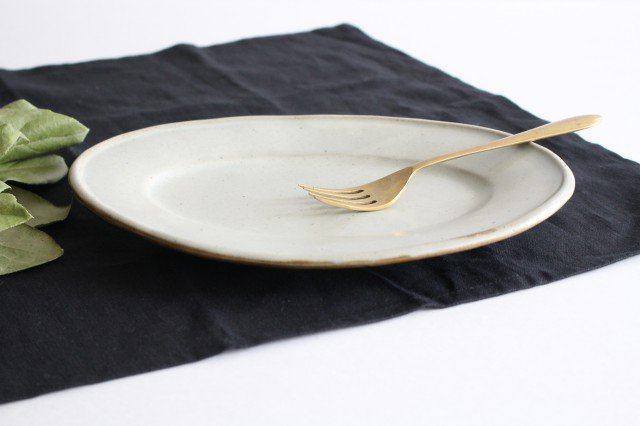 オーバル皿 中 陶器 笠原良子 画像5