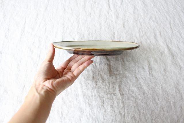 オーバル皿 小 陶器 笠原良子 画像2
