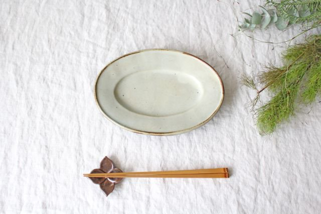 オーバル皿 小 陶器 笠原良子 画像4