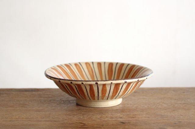 美濃焼 中平鉢 麦藁手(橙)【A】 陶器 画像2