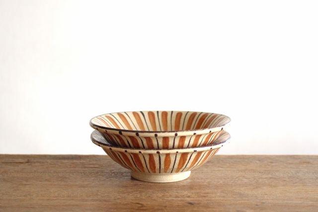 美濃焼 中平鉢 麦藁手(橙)【A】 陶器 画像6