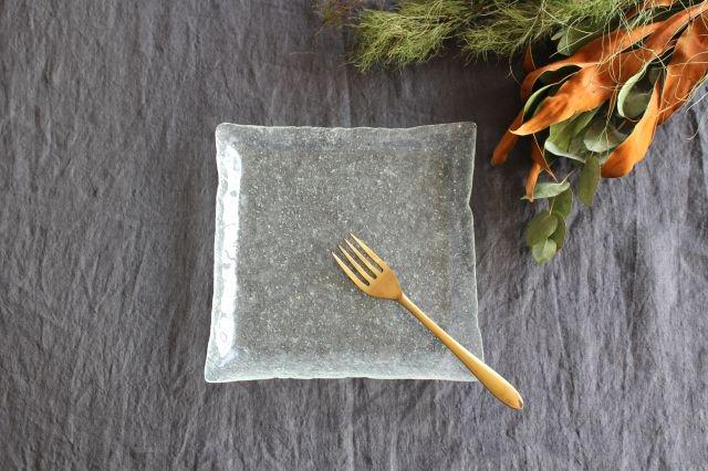 ガラスの四角皿 liir 森谷和輝