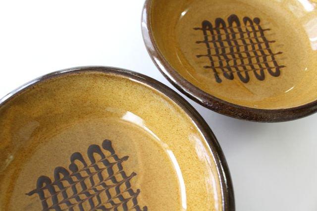 フェザーコーム 中鉢 うす飴 陶器 佐川義乱 画像2