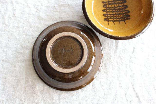 フェザーコーム 中鉢 うす飴 陶器 佐川義乱 画像6