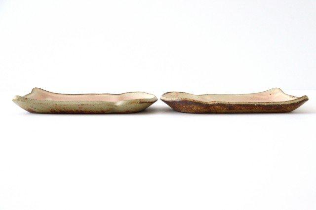 粉福 食パン皿 S 陶器 木のね 画像5