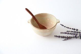粉福耳付きスープボウル 小 陶器 木のね商品画像