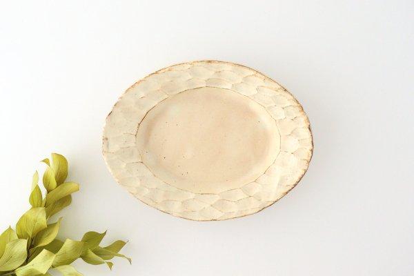 粉福 楕円リム皿 S 陶器 木のね商品画像