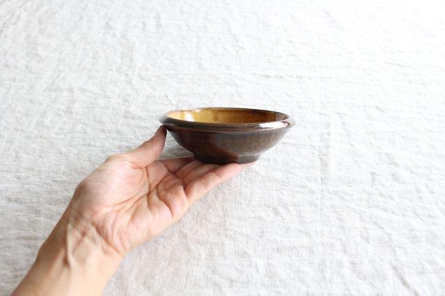 フェザーコーム 小鉢 うす飴 陶器 佐川義乱 画像3