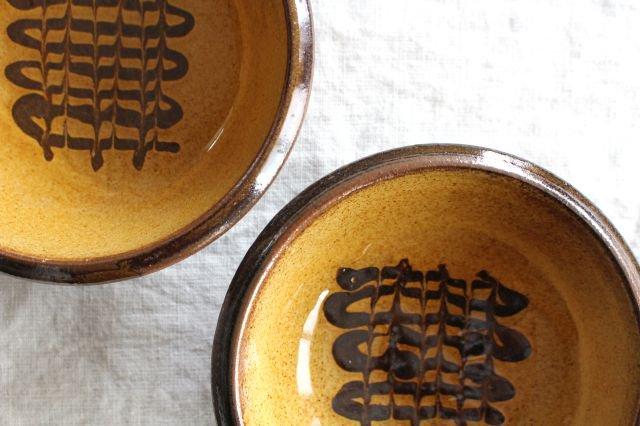 フェザーコーム 小鉢 うす飴 陶器 佐川義乱 画像4