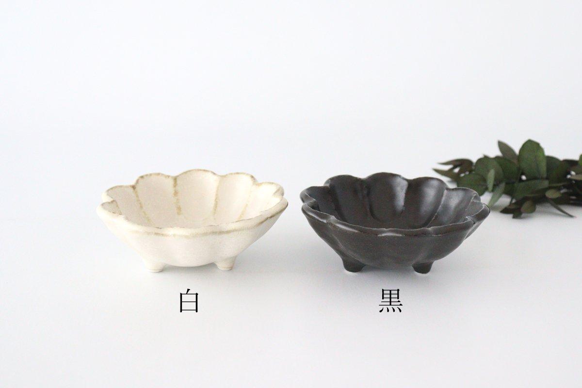 美濃焼 菊花 3寸小鉢 黒 磁器 画像6