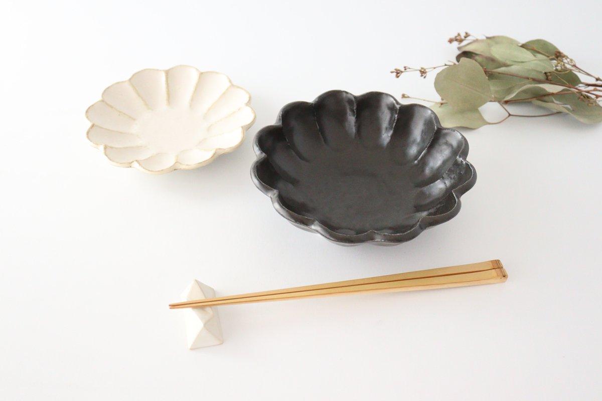 美濃焼 菊花 6寸鉢 黒 磁器 画像4