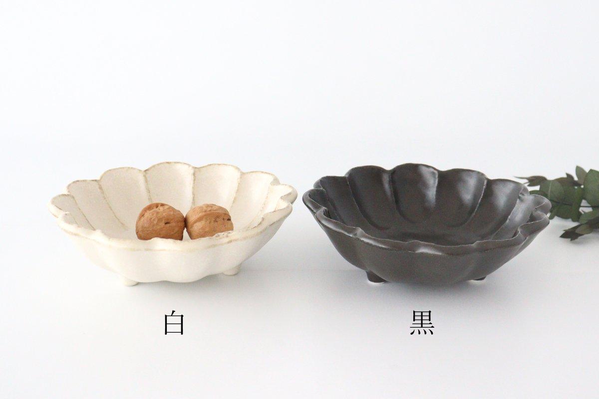 美濃焼 菊花 6寸鉢 黒 磁器 画像6