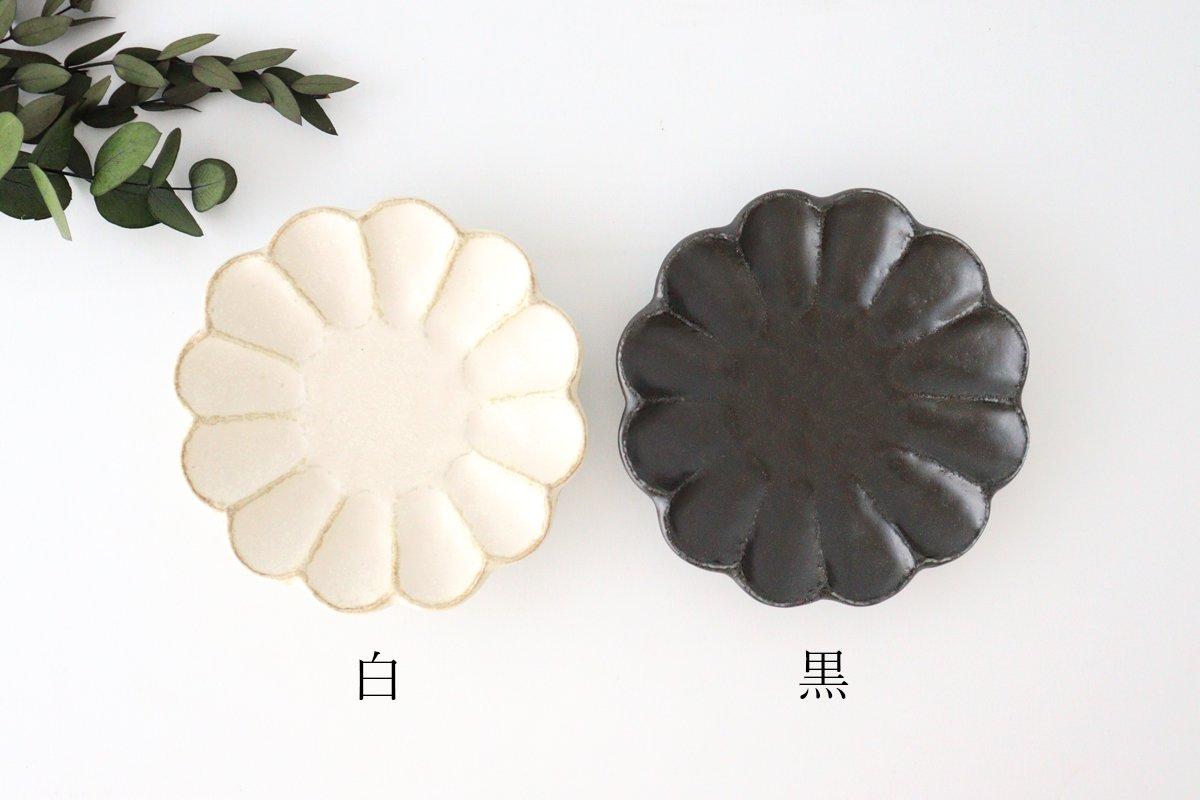 4寸皿 黒 磁器 菊花 美濃焼 画像6