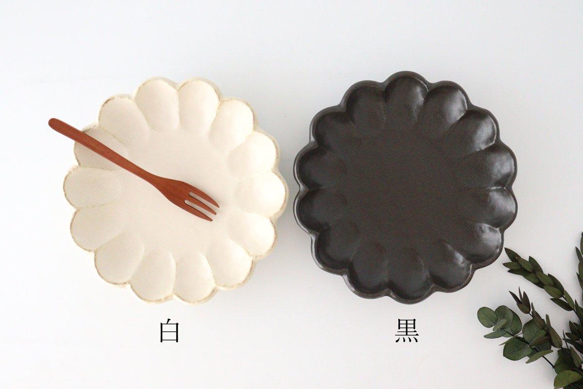 美濃焼 菊花 7寸皿 黒 磁器 画像6