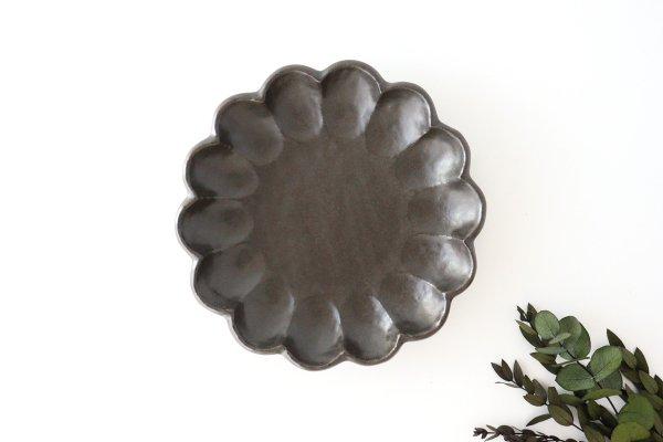 美濃焼 菊花 7寸皿 黒 磁器商品画像