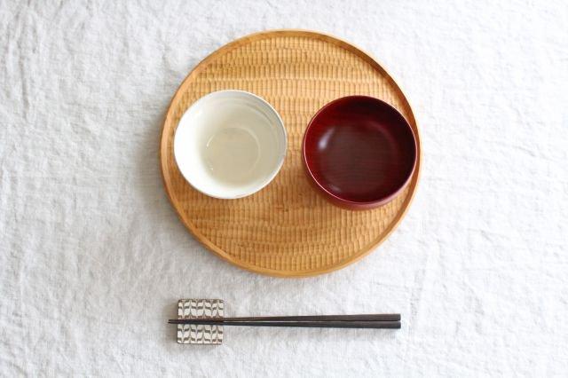 しらさぎ椀 M 漆赤 白鷺木工 画像2