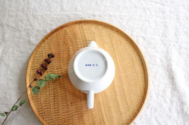茶海 大 石灰釉 磁器 東屋 画像4