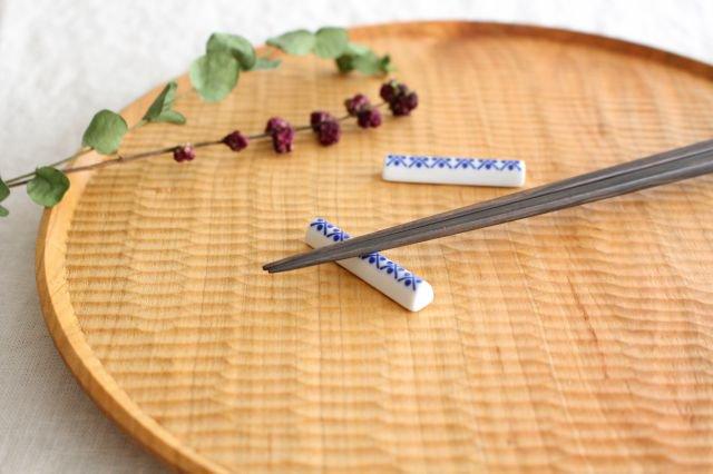 印判箸置き 米印 磁器 東屋