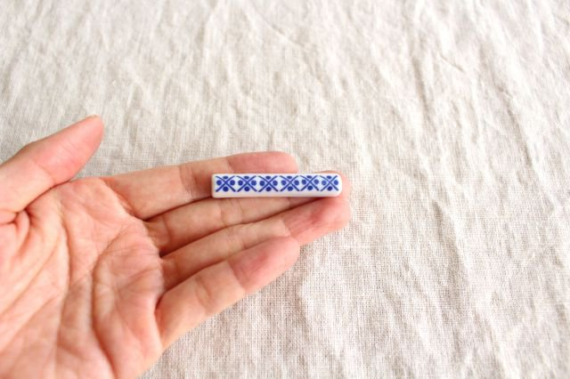 印判箸置き 米印 磁器 東屋 画像2