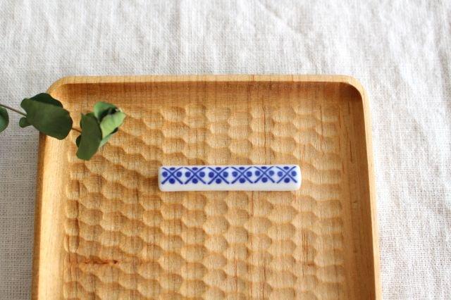 印判箸置き 米印 磁器 東屋 画像3
