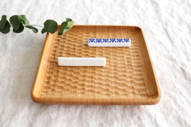 印判箸置き 米印 磁器 東屋 画像4
