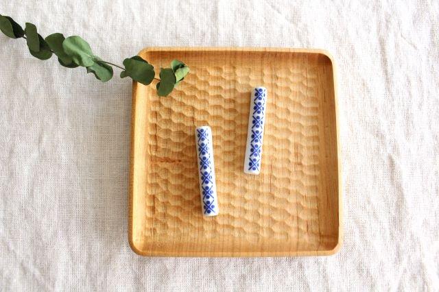 印判箸置き 米印 磁器 東屋 画像6