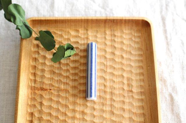印判箸置き 雪道 磁器 東屋
