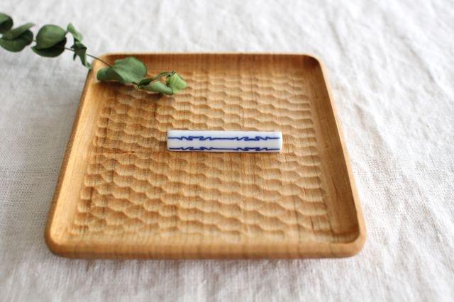印判箸置き 茎形 磁器 東屋