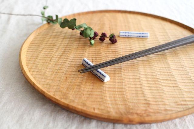印判箸置き 茎形 磁器 東屋 画像2