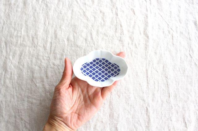 豆皿 印判 木瓜 磁器 東屋 画像2