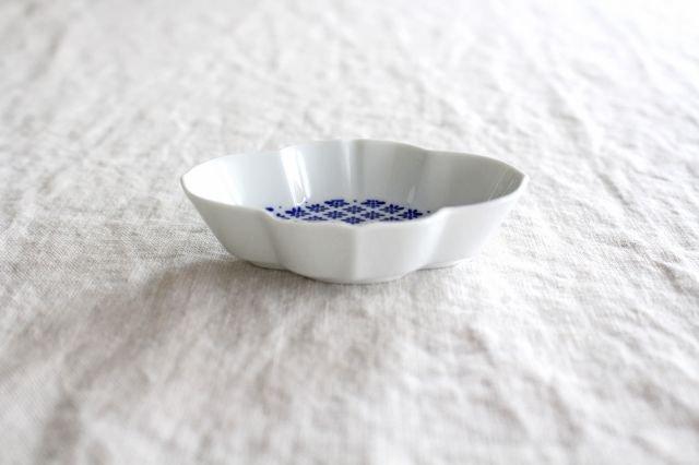 豆皿 印判 木瓜 磁器 東屋 画像4