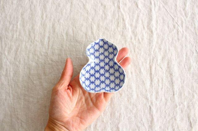 豆皿 印判 ひょうたん 磁器 東屋 画像2