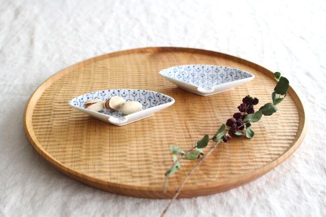 豆皿 印判 扇 磁器 東屋 画像2