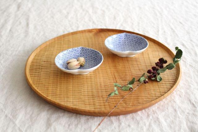 豆皿 印判 桃 磁器 東屋 画像3