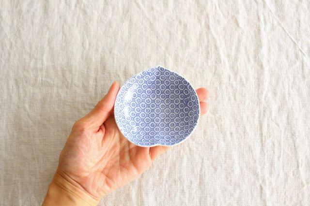 豆皿 印判 桃 磁器 東屋 画像6
