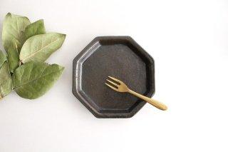 黒 八角小皿 陶器 庄司理恵商品画像