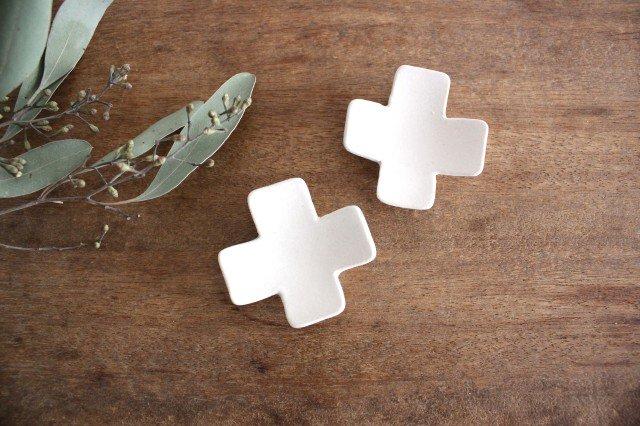 箸置き 十字型 白 陶器 辻本路 画像4