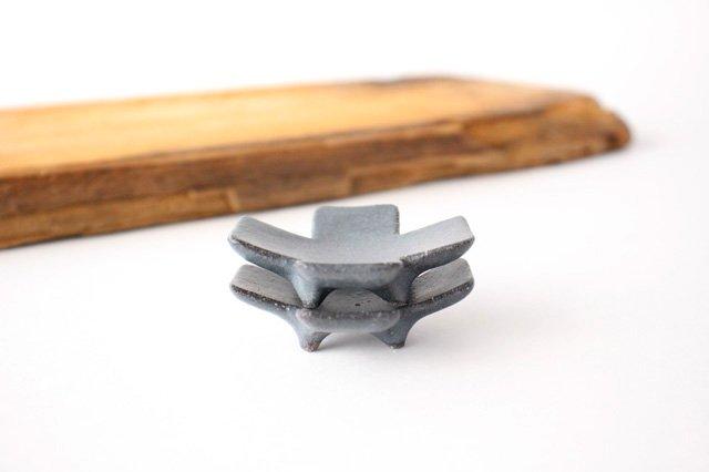 箸置き 十字型 ダークグレー 陶器 辻本路 画像5