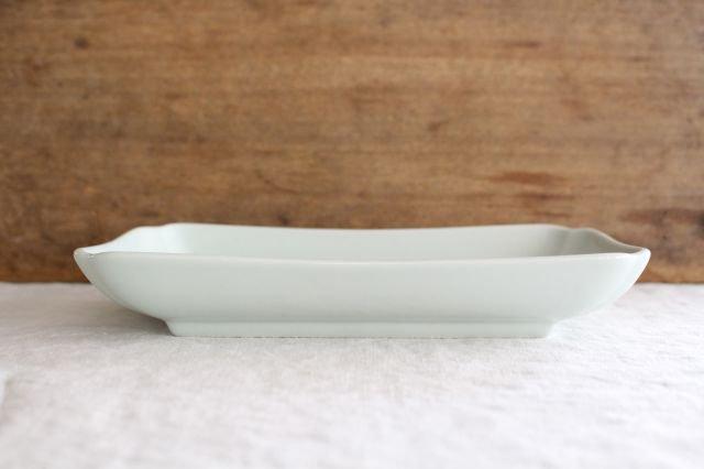 木瓜角皿 土灰 長角 磁器 東屋 画像2